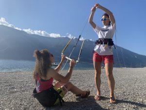 Beginner kitesurf lesson with Wind Riders on Lake Garda